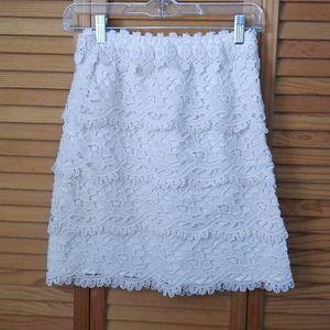 Loft Petite Lace Aline Skirt Size 00P